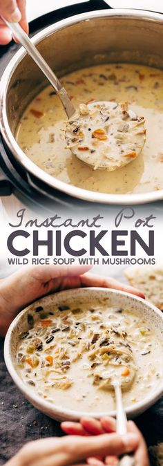 Instant Pot Chicken Wild Rice Soup.
