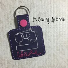 iSew Sewest Crafter Camera Keychain  Zipper by ItsComingUpRosie