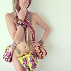 """Who says """"You can only wear 1 at a time?"""" Not US! Wayuu as much as U can!  Hand Made. One of a kind. Wayuu Mochila Bags. LUXURY BAGS.  Luxury Wayuu Mochila Bag   Handmade in Colombia. www.delcastillobagcompany.com #wayuumochilabag #wayuu #mochila #boho #bohemian #style #colombia #chic #hippie #fashion #beachbag #pattern #summer #spring #crochet #stylish #handbag #bag #sexy #sexsells #barelythere #bikini #lingere #model #advertisement #fashionmodel  #musthave #fashiontrend #trend #hipster…"""
