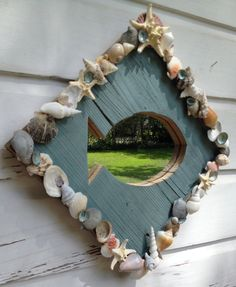 Seashell Fish Mirror/Beach House/Seashell Home by MyHoneypickles