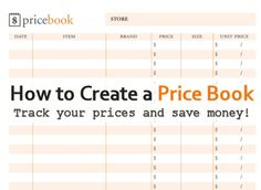 Create a Price Book to Save Money on Groceries via MrsJanuary.com #savemoney