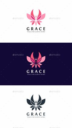 Butterfly Grace - Animals Logo Templates