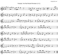 Rudolph the Red Nosed Reindeer (in C) Free mp3 download, midi download, lyrics & score: http://www.singing-bell.com/rudolph-the-red-nosed-reindeer-mp3/