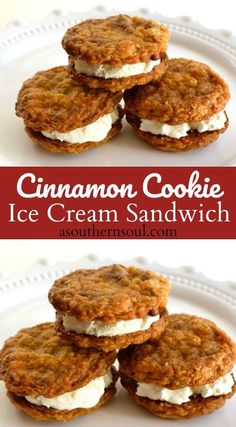 Homemade cinnamon cookies loaded with rich vanilla ice cream then chilled until they are just right for the BEST ice cream sandwich.