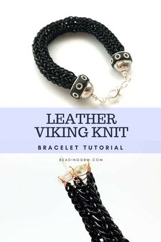 How to Make Leather Viking Knit Bracelets Part 1