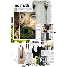 Green and Greys, created by punkybaby on Polyvore