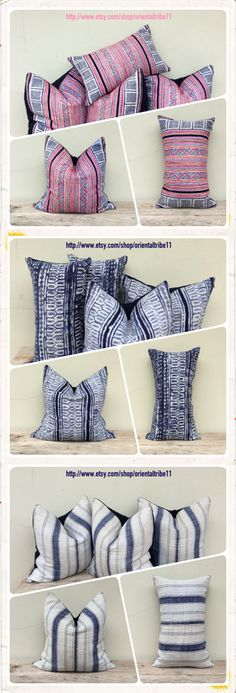 Vintage Ethnic Textiles Decorative Throw Pillow Case by orientaltribe11 on etsy