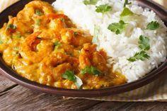 Crevettes au coco et curry avec thermomix. Voici une délicieuse recette des Crevettes au coco et curry thaï, facile et simple a réaliser avec le thermomix.