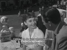 Roman Holiday: my favorite movie, dream vacation