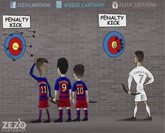 MSN VS Ronaldo ( Penalty kick )! Ha... True!!!! Ronaldo style....