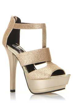 Ratio Sandals In Gold