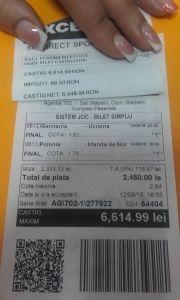 Miză de 2500RON și câștig de 6600RON pe un bilet jucat în Stâlpeni! Poker, Event Ticket, Personalized Items
