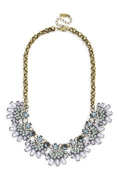 Will wear this sparkly BaubleBar 'Pavé Cumulus' bib necklace with a LBD.