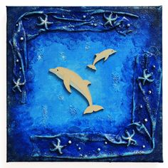 Freedom in the water (Szabadság a vízben) - 20 x 20 cm, 2018 Dolphins, Techno, Freedom, Flag, Textiles, Water, Painting, Art, Liberty