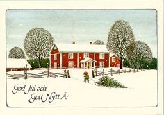 by Lennart Helje Sweden Christmas, Nordic Christmas, Christmas Cards, Christmas Decor, Christmas Ideas, Christmas Illustration, Cute Illustration, Baumgarten, Scandinavian Gnomes