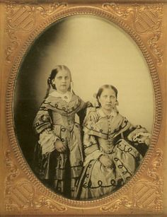 Brazilian Princess Leopoldina and Isabel (seated), 1855.