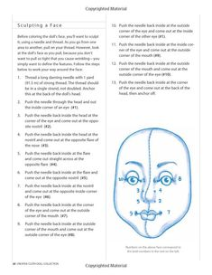 "Needle Sculpting a Cloth Doll's Face -- from ""Creative Cloth Doll Collection: A Complete Guide to Creating Figures, Faces, Clothing, Accessories, and Embellishments"" by Patti Medaris Culea"