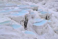 Turkey's foremost mineral bath spa, Pamukkale, Turkey, 2013 - by María Velázquez de Castro, Spanish
