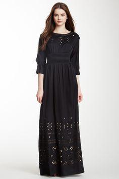 Cutout Silk Blend Maxi Dress