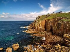 Cornwall, England by the sea