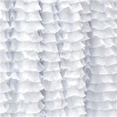 Frilly perfect white ruffle fabric double stretch