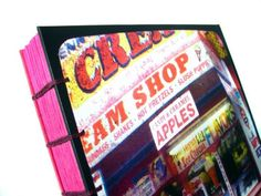 CREAM SHOP. Coney Island. Square Coptic Sketchbook with Original TTV Photography. (SALE) $35