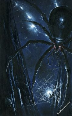 But Ungoliant had grown great, and Morgoth less by the power that had gone out of him, and she enmeshed him in a web of clinging  thongs to strangle him. The cry of Morgoth in that hour was the greatest and most dreadful that was ever heard in the northern world.