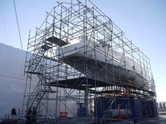The first stage of the #yachtcontainment build for yacht INDIO is almost complete. @TechnocraftSL have constructed the #marinescaffold frame, on top of which will go the high quality flame retardant plastic shrink film. Yacht INDIO is a 30.48m sailing yacht built by Wally and launched in 2009. www.technocraftsl.com #refit #repair #mallorca