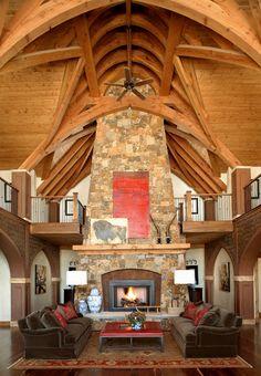 Rustic glamour. Robert Brown Interior Design.