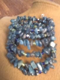 Kyanite Chip and Crystal Wrap BraceletBuy one and get a second item FREE