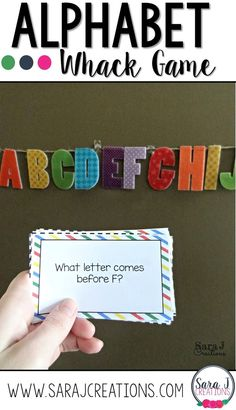 Alphabet Whack - Practicing Letters Game. FREE printable question cards.
