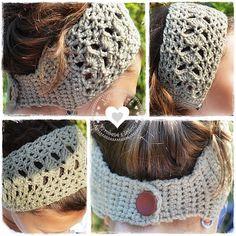 crocheted headband...: Háčkovaná čelenka