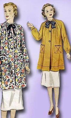 1930s Charming Artist's Smock Pattern Unused Simplicity Sewing Pattern Sz 12 | eBay