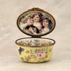 Limoges Box- three sisters with rabbit