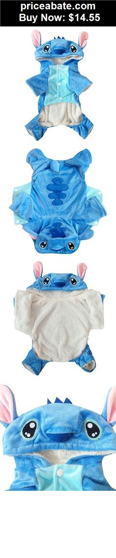 Animals-Dog: Blue Stitch Costume Fleece Coat Jacket Hoodie Pet Cat Puppy Small Dog Clothes - BUY IT NOW ONLY $14.55