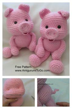 Crochet Along Amigurumi Pig Free Pattern