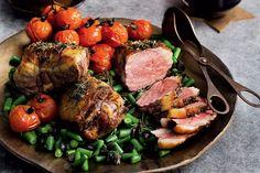 Marco Pierre White's roasted lamb rump a la Provencale Healthy Lamb Recipes, Roast Recipes, Savoury Recipes, Dinner Recipes, Marco Pierre White, Barbecued Lamb, Lemon Green Beans, One Dish Dinners, Sunday Roast