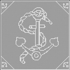 ANCHOR CROCHET AFGHAN PATTERN COPYRIGHT TINA GIBBONS
