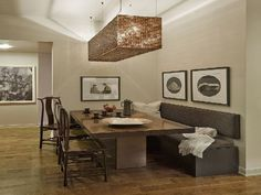 wood benches for dining   ... : Amazing Dining Room Design ...