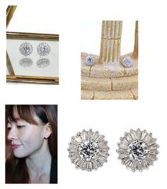 """""""Shining small crystal silver earrings"""" by oceanfashion on Polyvore"""