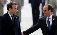 Macron conmemora el fin de la Alemania nazi en su primer acto oficial como presidente electo de Francia