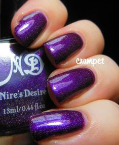 Bums and Plums image 1 Manicure Colors, Nail Manicure, Nail Colors, Gel Nails, Manicures, Plum Nails, Purple Nails, Gorgeous Nails, Pretty Nails