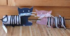 gato - rollo de papel higienico
