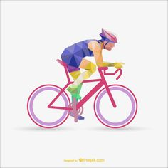 We have a collection of low-poly sport templates to giveaway. In total there are 17 individual templates in the pack and they come in both AI & EPS formats. Bicycle Store, Bicycle Art, Mountain Bike Shop, Design Plano, Sports Templates, Triangle Vector, Bmx, Pink Bike, Cycling Art