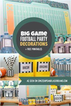 Football Party Decoration Ideas #BigGameSnacks #CBias #Ad @Walmart