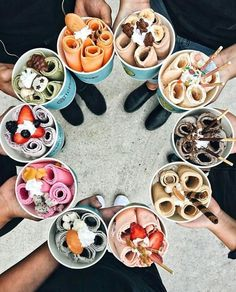 food aesthetic food, delicious, and ice cream image Cute Food, I Love Food, Good Food, Yummy Food, Tasty, Healthy Food, Healthy Heart, Eating Healthy, Kreative Desserts