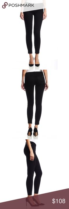 """New HUDSON Natalie Midrise Jeans 256242 HUDSON Natalie Midrise  Super Skinny Blue Jeans Black - Size 31  You'll love this flattering pair of Hudson Natalie Midrise Super Skinny jeans. A stretchy soft, mid rise, ultra skinny jean that grazes the ankle, making it perfect for showing off your favorite footwear Made in Mexico    Cotton blend  New with tags.    MEASUREMENTS Waist:  16"""" flat across Rise:  10"""" Inseam: 27""""  All items I sell are 100% authentic! Buy with Confidence. Hudson Jeans Jeans…"""