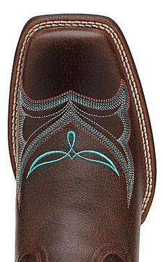 Ariat Women's Whimsy Fiddle Brown with Turquoise Embroidery Square Toe Western Boots | Cavender's