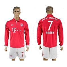 Bayern München 16-17 Franck Ribery 7 Hjemmebanetrøje Lange ærmer