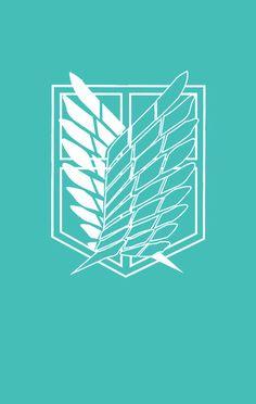 Scouting Legion logo mint wallpaper - Attack on Titan